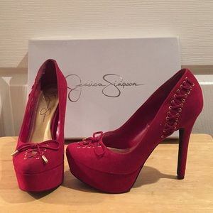 Jessica Simpson Red Suede Pumps 6.5